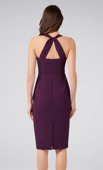 Brand New With Tags Size 8 Purple Forever New Formal Cocktail Dress Plum Sweetheart Neckline