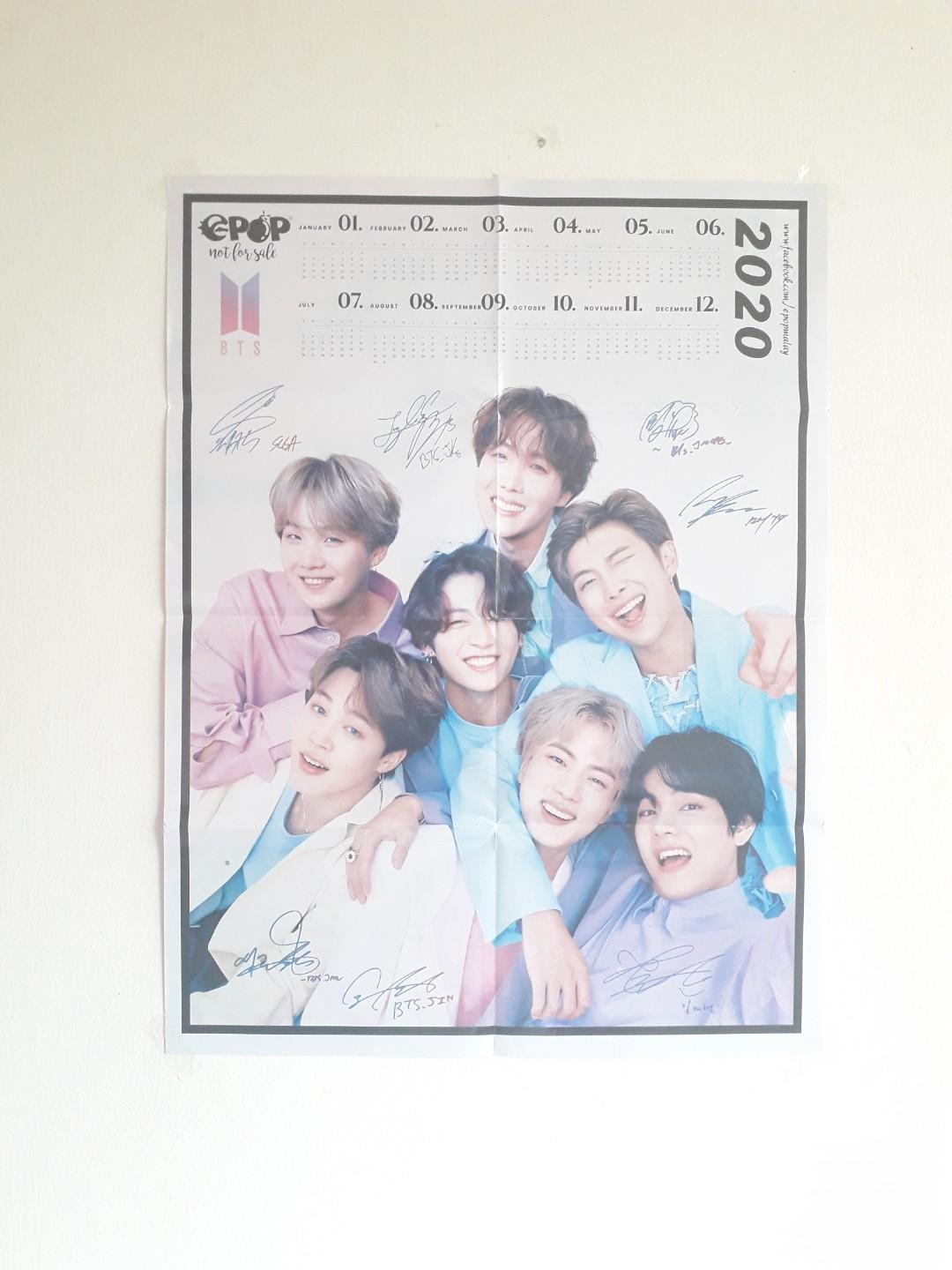 'BTS' Poster + Year 2020 Calendar (2 poster available)