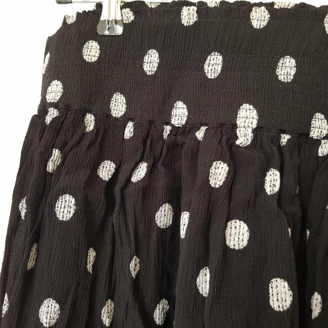 Country Road Black and White Polka Dot Skirt Size S/8