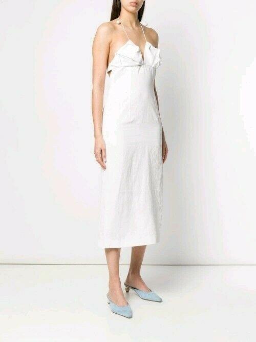 Jacquemus La robe Bambino Longue Midi Dress in White - Size  34 RRP $800