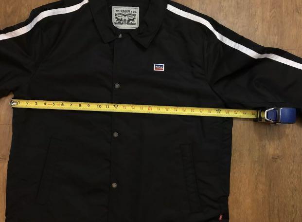 Levi's Retro Coaches Water Resistant Men's Jacket Small Black NWT $160