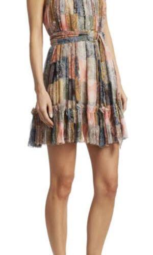 Like Zimmermann ninety-six short halter dress size M or AU 10, NWT