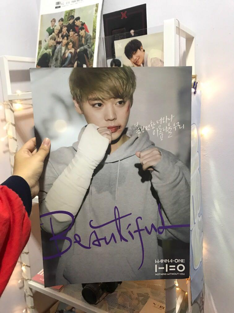 park jihoon nothing without you officiall showcon poster