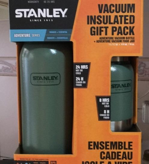 美國Stanley真空18/10不鏽鋼保溫瓶+食物保溫罐,2件組,Costco好市多代購 史丹利#411722