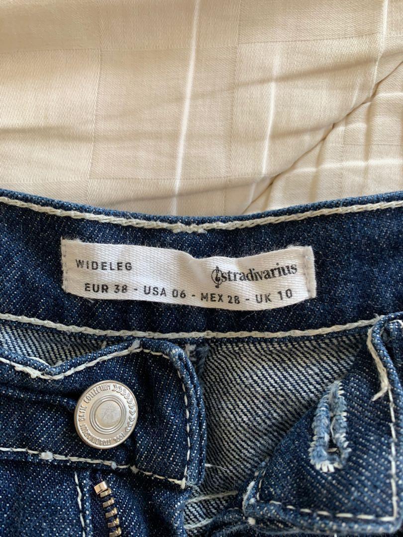 Stradivarius high waisted wide legged jeans size 10