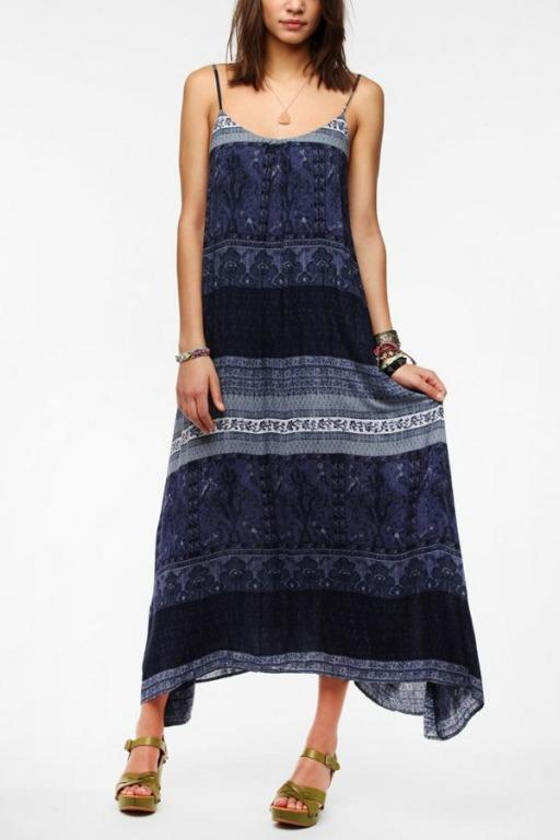 urban outfitters Ecote Printed Tie-Back Maxi Dress