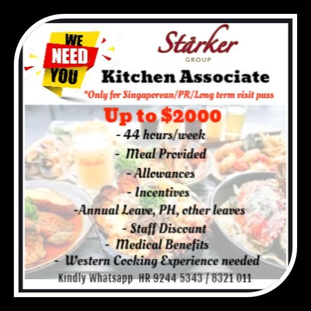 URGENT-Kitchen Associate & Kitchen Assistant Manager