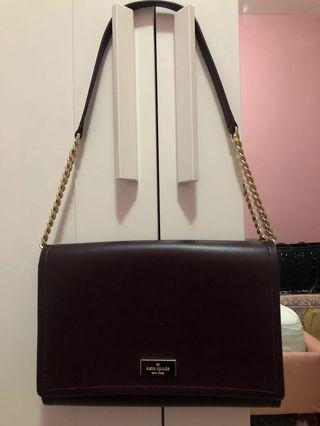 Wine / Burgundy Kate Spade Leather Bag