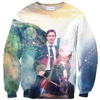 Shelfies Justin Trudeau Crew Neck Sweatshirt