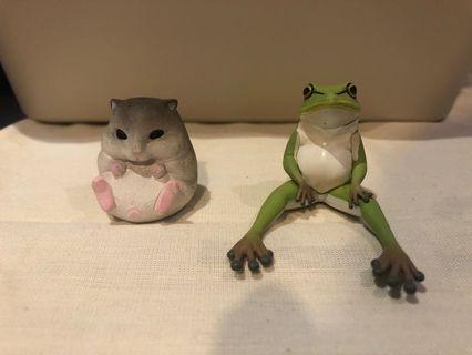 扭蛋 動物系列 倉鼠 青蛙