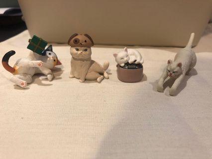扭蛋 動物系列 各式模樣 貓