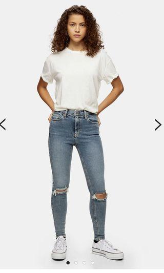 Topshop Light Wash Jamie Jeans (W 25, L 30)