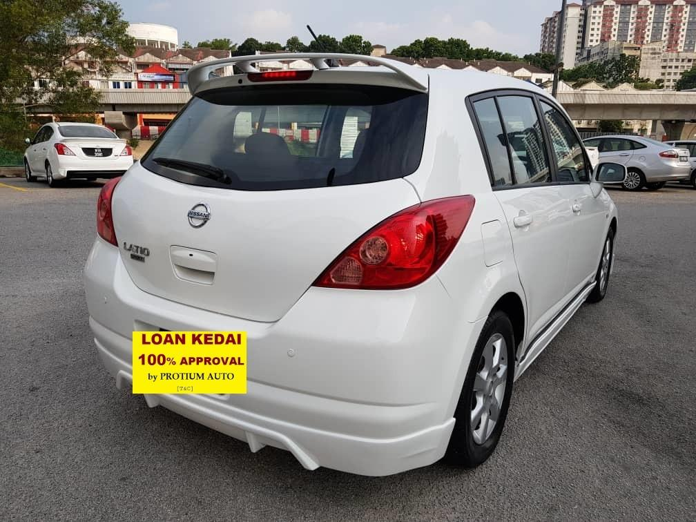 2008 Nissan LATIO 1.6 SPORT ST-L (A)  Muka 1K Loan Kedai