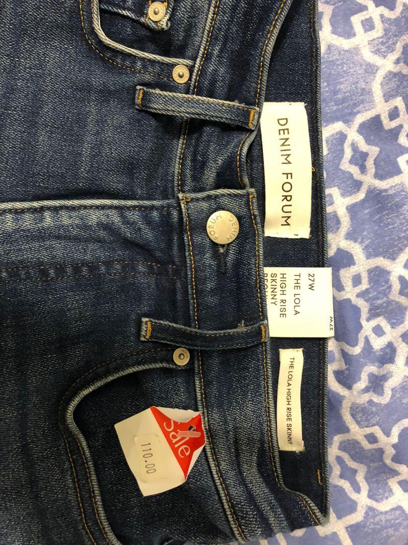 Aritzia NEW with TAGS Denim Forum Skinny Jeans, size 27