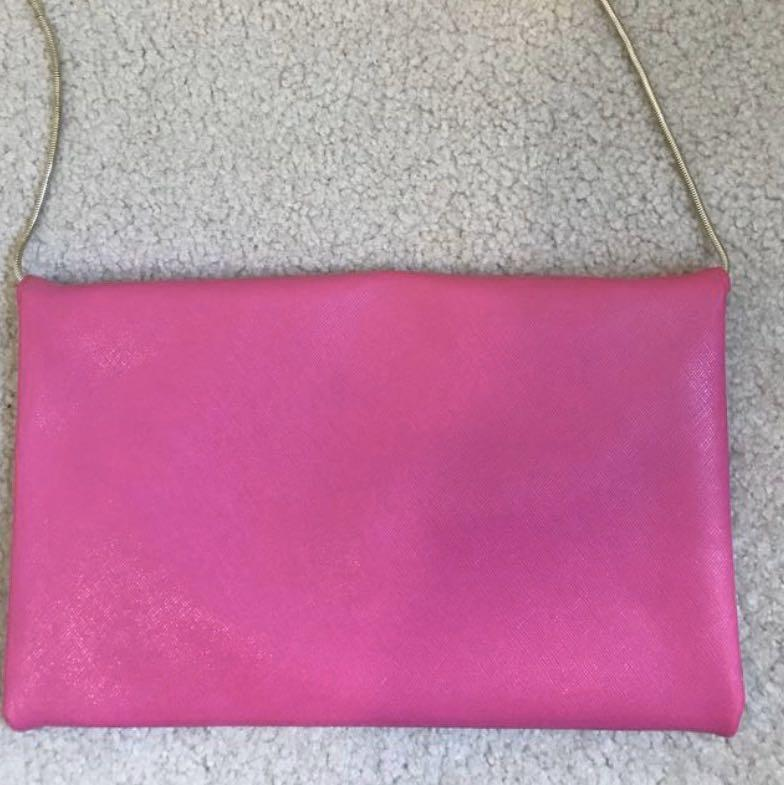 [AS NEW] Juicy Couture Pink Cross Body purse with gold