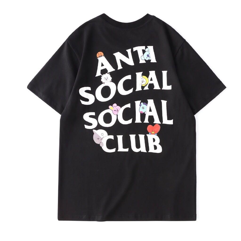 BT21 BTS x Anti Social Club T shirt / T - Shirt / T-Shirt / Clothes / Casual Wear