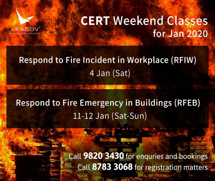 CERT TRAINING (FIRE SAFETY COURSES)