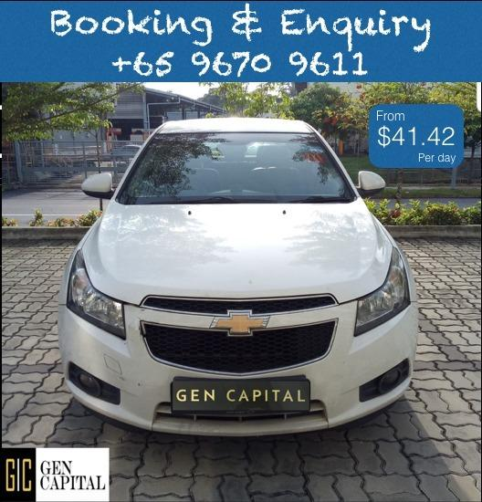 Chevrolet Cruze @ Way more affordable rates to Grab Rentals! Only $500 deposit!