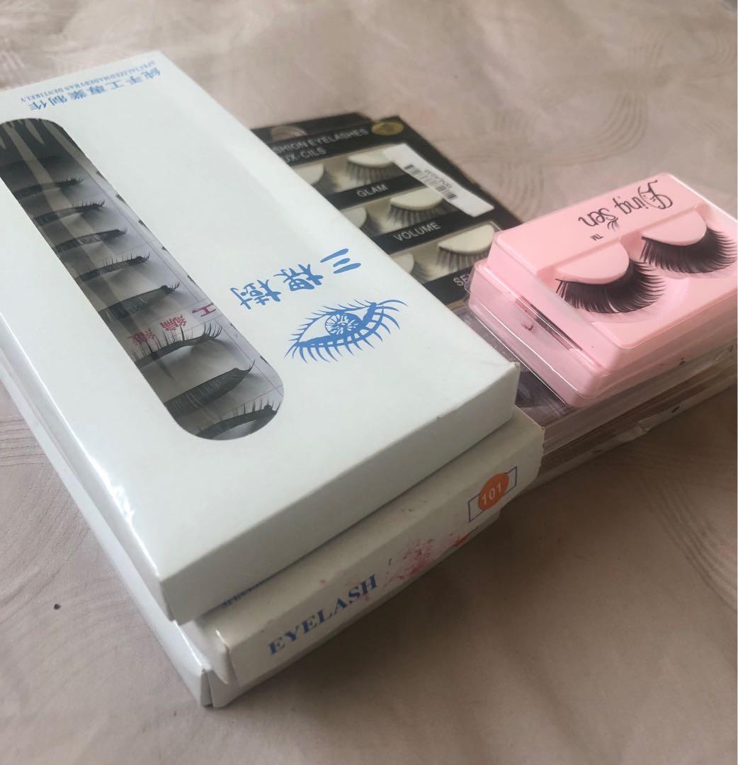 False lashes bundle for 25$ - 36 pairs + individual lashes