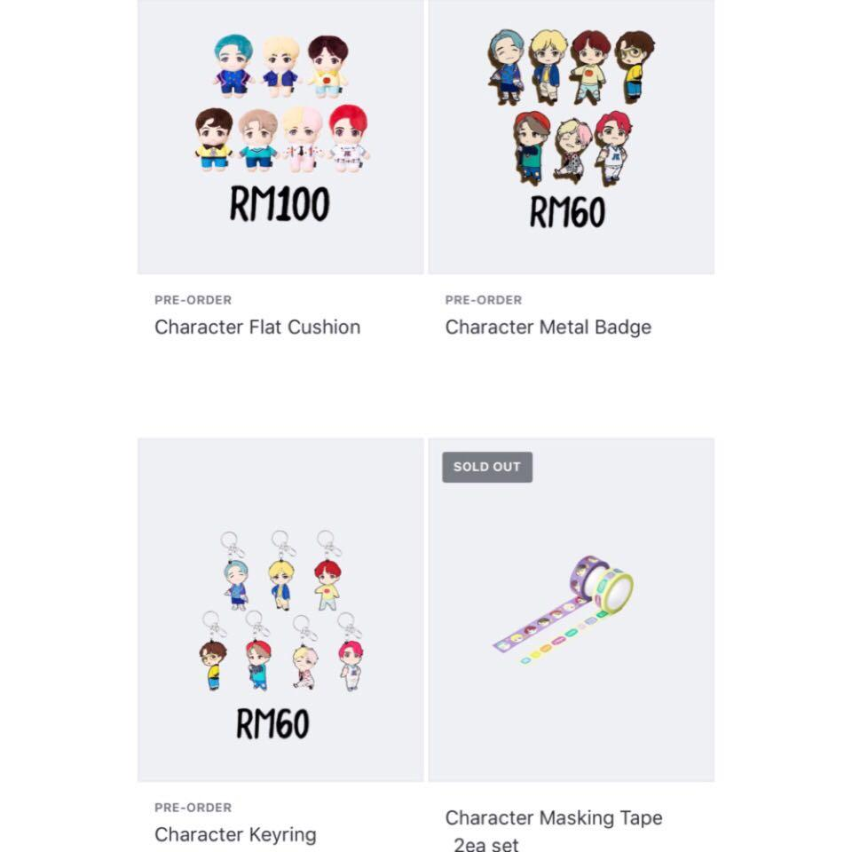 [FAST GROUP ORDER]✨ BTS POP-UP : HOUSE OF BTS [ CHARACTER & LOGO MERCH ]