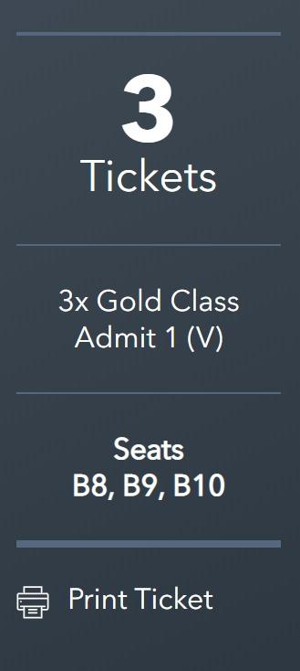 Frozen 2 - Village Gold Class 3 Tickets - Geelong - available for sale $ 25 each.