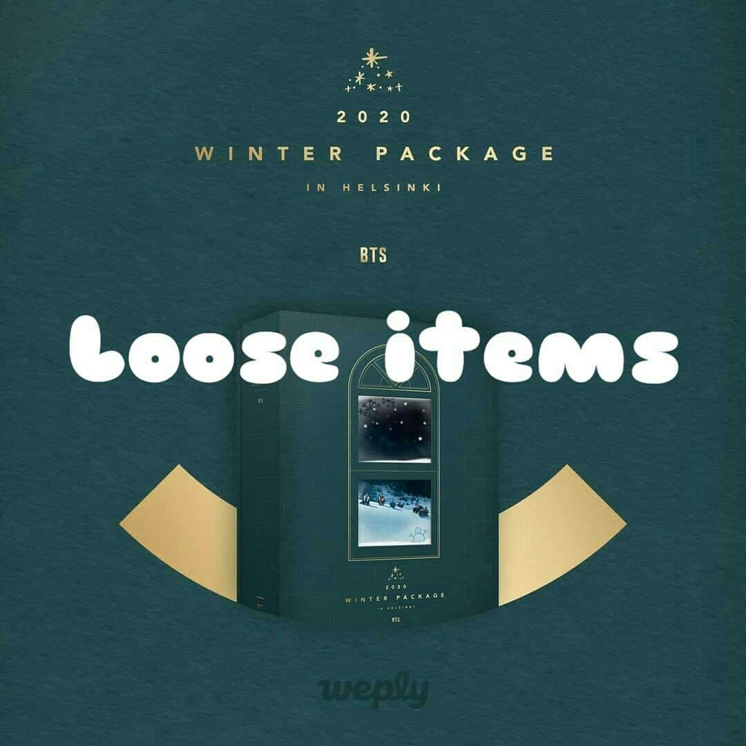 Loose items bts winter package 2020