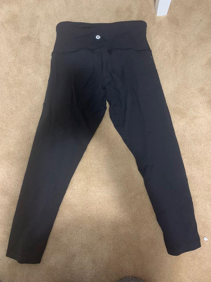 "Lululemon black wonder under cropped leggings (21"")"