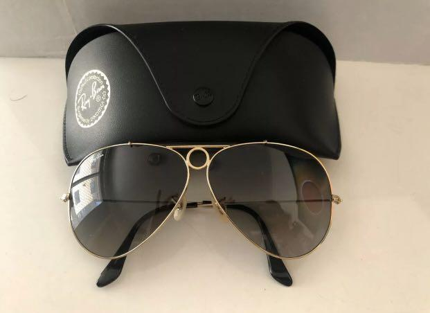 NEW Vintage Original B&L Ray-Ban Shooter Bullet Hole Sunglasses RRP $250