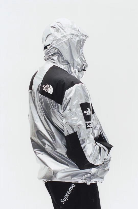 🎇🎉NEW YEAR READY🎉🎇100% AUTHENTIC SUPREME THE NORTH FACE METALLIC MOUNTAIN PARKA JACKET