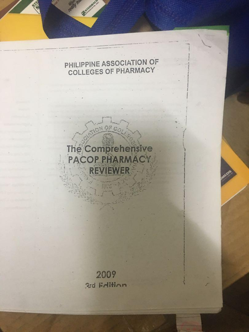 pacop (philippine association of colleges of pharmacy) pharmacy reviewer 2009 edition