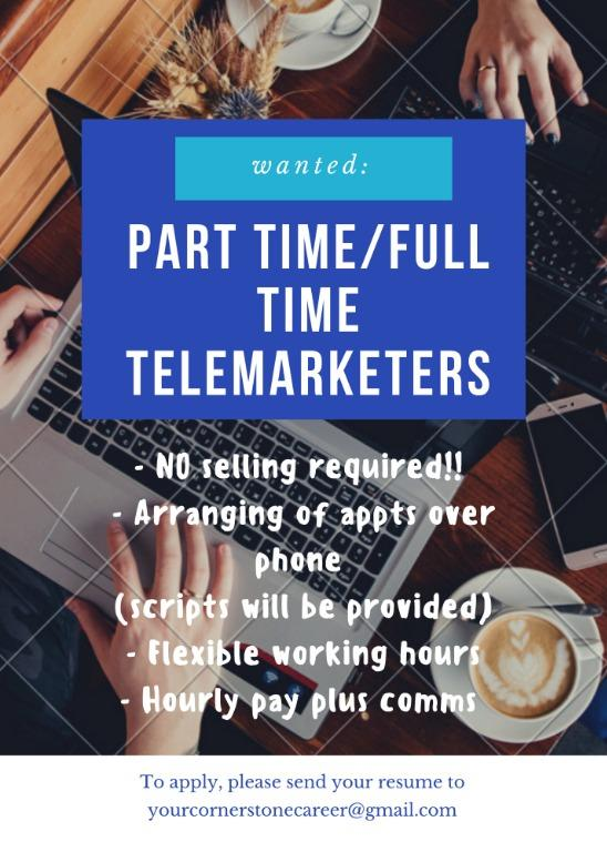 Part Time / Full Time Telemarketers