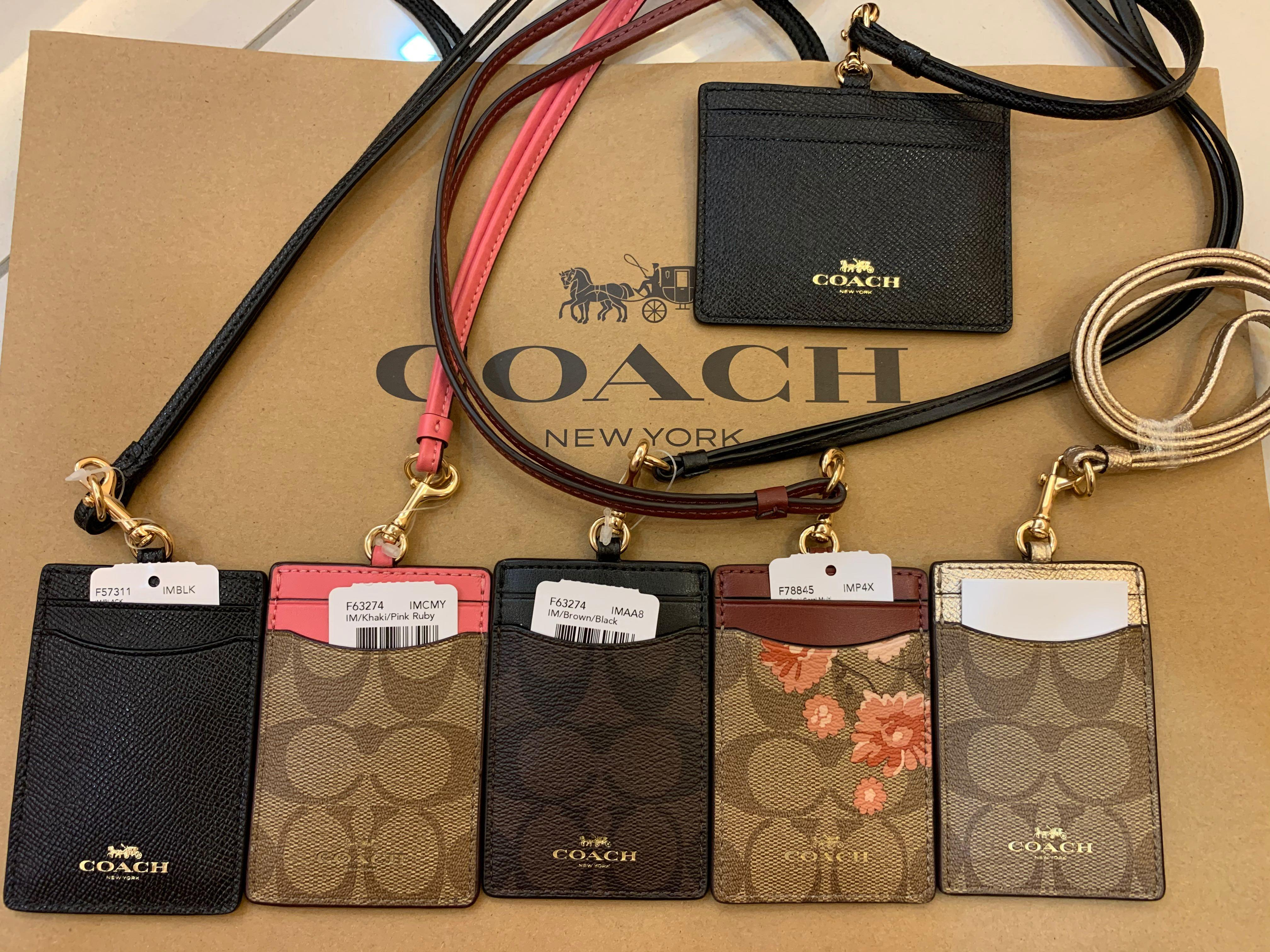 Ready Stock Chirstmas year end sales authentic coach women lanyard card holder