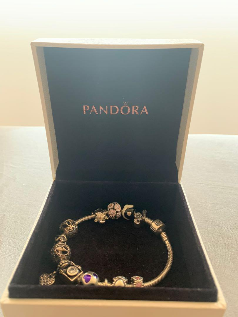 REAL Pandora Charms (each sold seperately) with bracelet chain