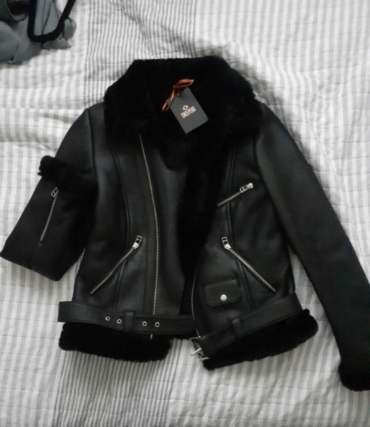Real shearling / leather aviator jacket BEST OFFER