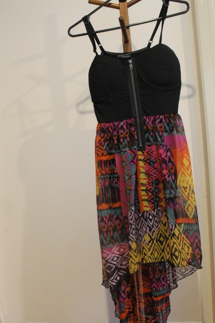 S/M - Xcepsion - Black Bust, Multi Long Loose Skirt