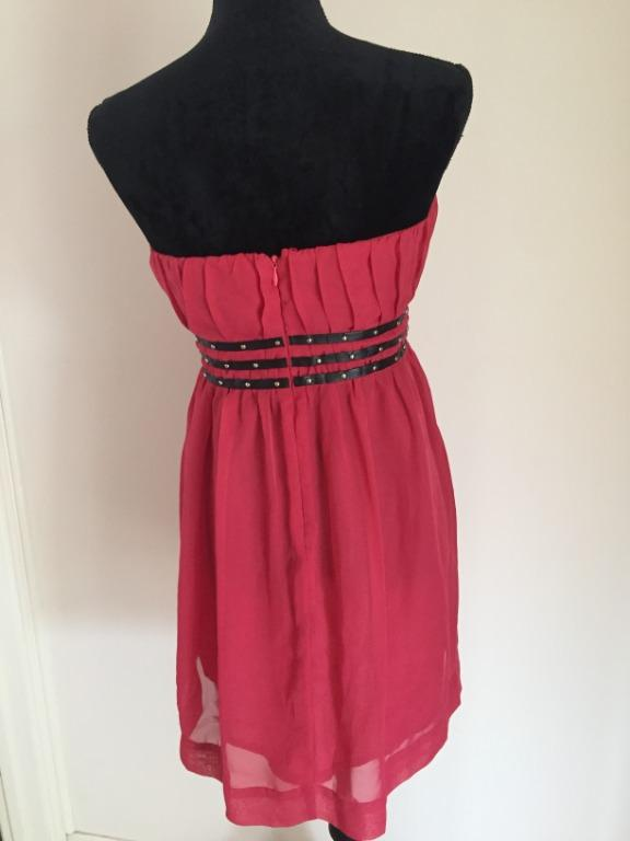 STELLA Pink Formal Cocktail Strapless Dress | Size 10