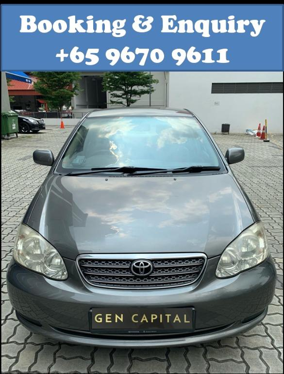 Toyota Altis @ Way more affordable rates to Grab Rentals! Only $500 deposit!