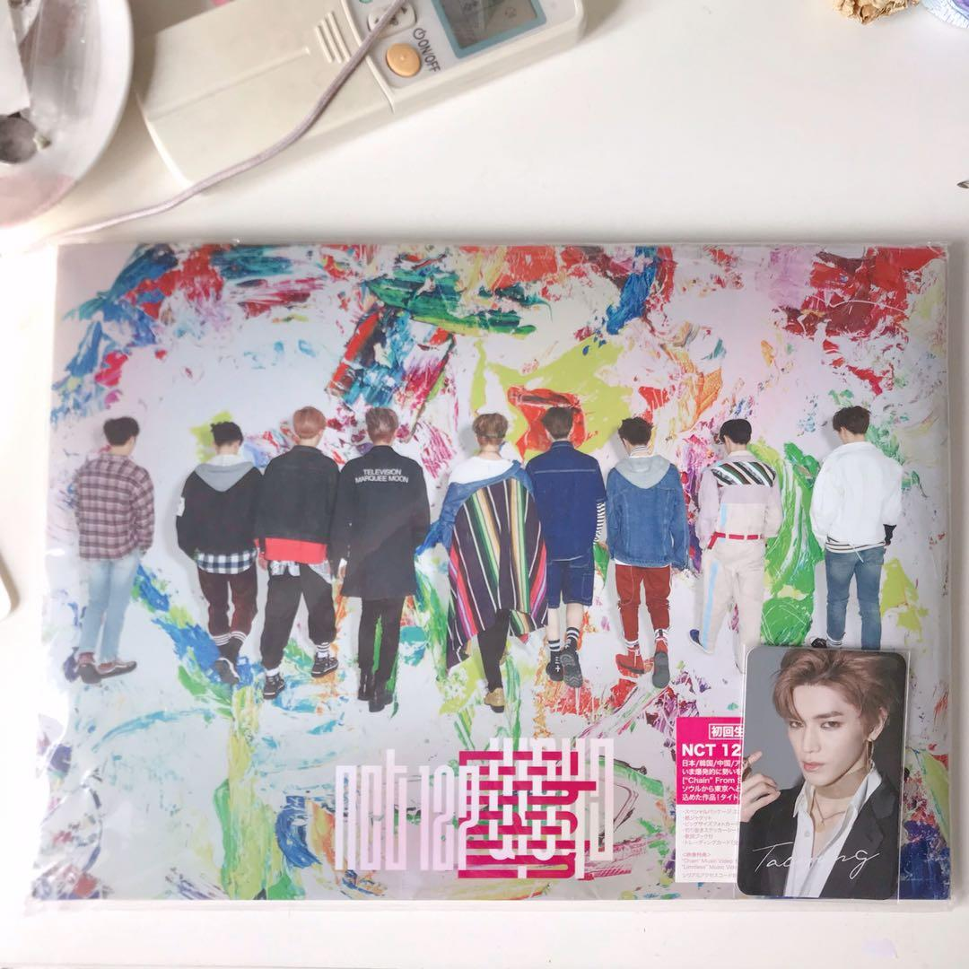 wts nct 127 chain cd + dvd limited edition with taeyong photocard