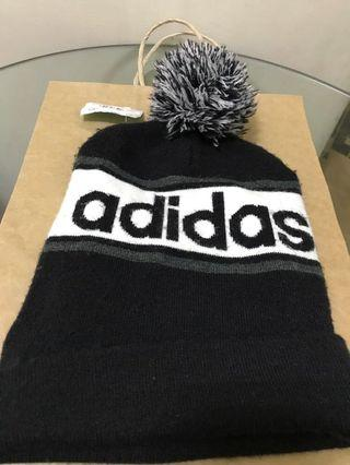 全新adidas 毛帽