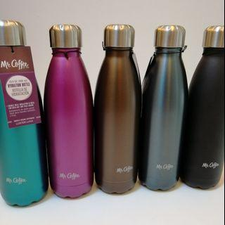 🆕 Mr. Coffee Luster Luna Thermal Hydration Bottle - Stainless Steel Double Wall Insulation 500ml