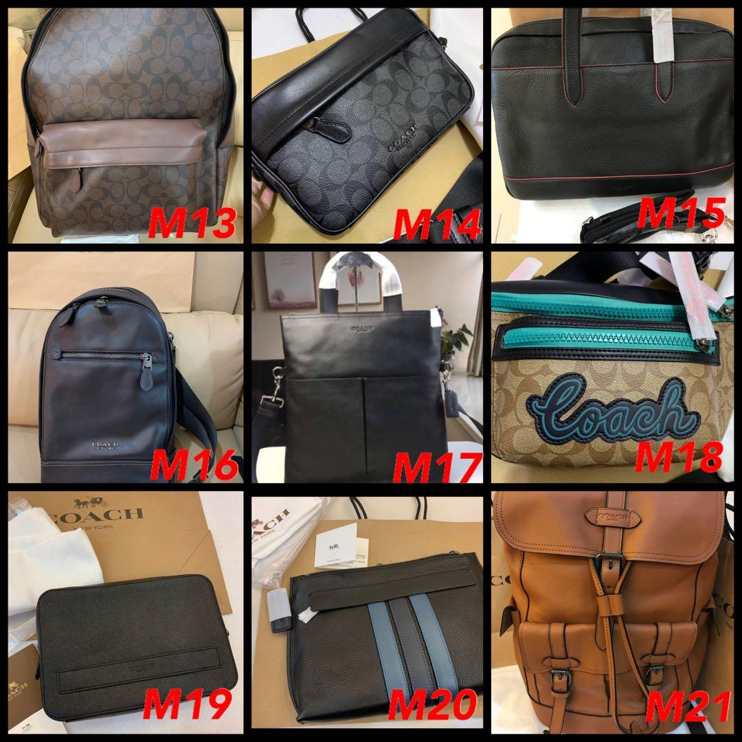 (28/12/19)Ready Stock authentic coach men backpack sling bag wallet purse clutch card holder belt coach lanyard