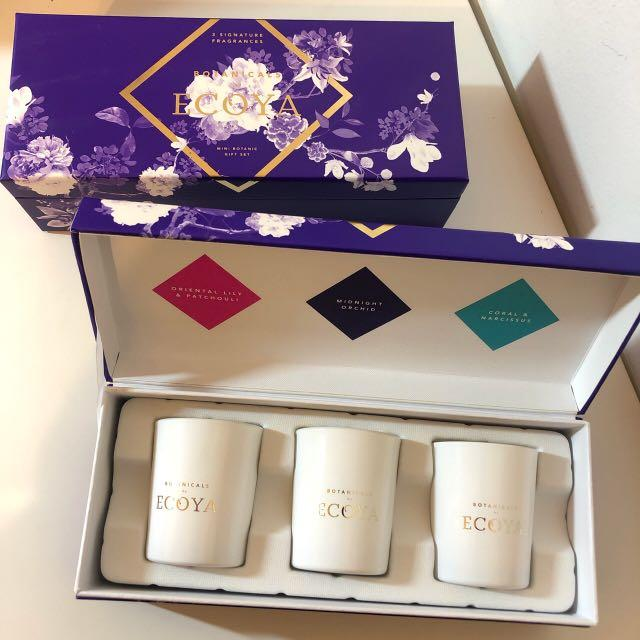 2x Ecoya Mini Botanic Candle Gift Sets (3 candles in each set)