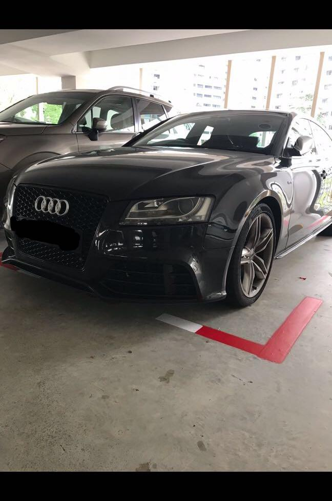 Audi S5 for wedding rental (with driver)