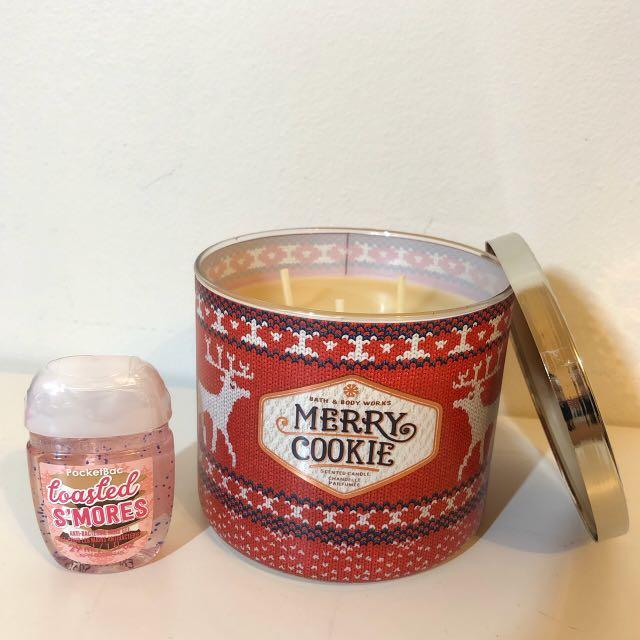 Bath & Body Works Set - Merry Cookie & Toasted S'mores