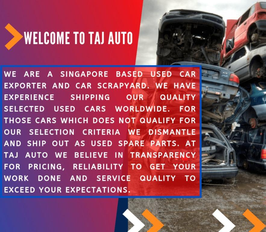 Best Price for Scrap/Export Cars by Direct exporter and Car scrapyard, LTA ESA Agent