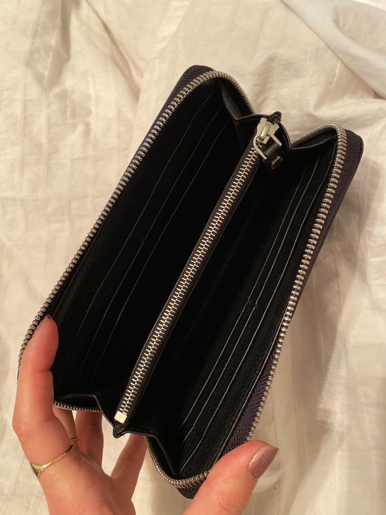 Elie Tahari black crocodile embossed Marisa wallet