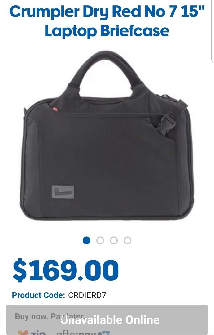 Free bless 3 bags (1 big bag, 1 grey briefcase. 1 black camera bag) except new Adidas shoes bag at $10 with purchased of Crumpler Dry Red No 7 Laptop Briefcase at $95. Get with Adidas shoes bags . Total $100.
