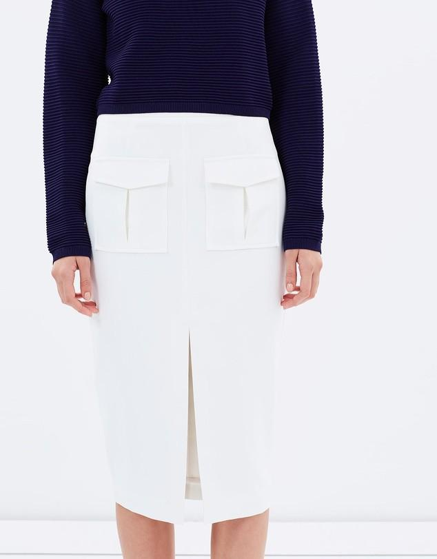 Friend of Audrey Military Skirt in White - Size 10 BNWT RRP $150