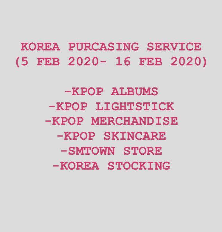 KPOP SERVICE  ( EXO / BTS / SVT/ IKON / GOT7/ SJ/ RED VELVET/ WINNER/ TWICE etc)