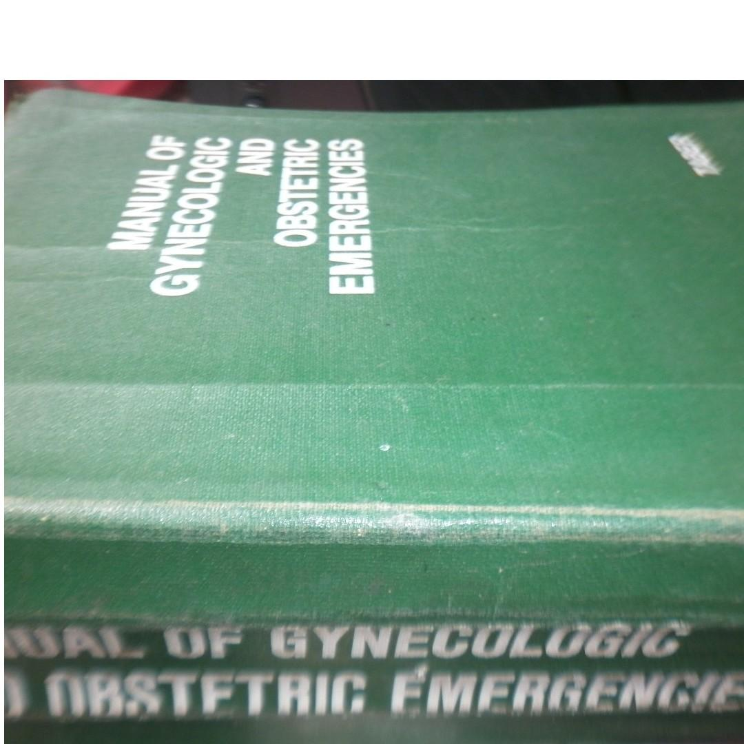 Manual of Gynecologic and Obstetrics emergencies Medicine book